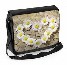 Love Heart Daisies Laptop Messenger Bag - Floral Flowers