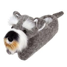 Schnauzer Slippers - Gray Dog Slippers for Men & Women