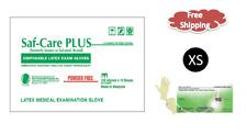 Saf-Care PLUS®  Powder Free Examination Latex Gloves- XSMALL 1000/CS MEDICAL  XS
