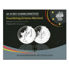 20 Euro Silber Froschkönig - Deutschland 2018 Spiegelglanz PP