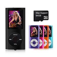 Mp3 Mp4 Player 64Gb Max Media Video Radio Fm Voice Record Mp4 Digital Lcd Screen
