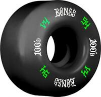 Bones Skateboard Wheels 54mm Black Wheels, 100's #12 V4
