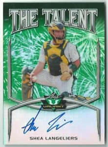 Shea Langeliers/Braves 2019 Leaf Valiant Baseball Green THE TALENT Auto Card /99