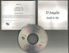 D'ANGELO Send it on w/ RARE RADIO EDIT PROMO DJ CD Single Dangelo 2000 USA