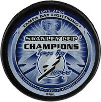 Tampa Bay Lightning Unsigned 2004 Stanley Cup Champions Logo Hockey Puck