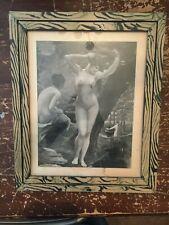 Vintage Jean Benner French Nudes Art Print Framed