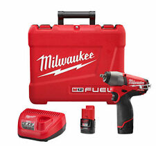 """Milwaukee 2454-22  M12 FUEL 12 Volt 3/8"""" Impact Wrench 2 Batteries and Charger"""
