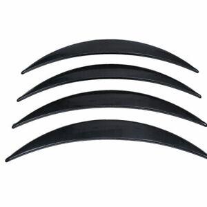 Universal Car Flexible Wheel Fender Flares Tire Eyebrow Kit W/ Carbon fiber Look