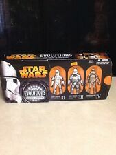 Star Wars Revenge of the Sith Evolutions Clone Trooper to Stormtrooper 3 pack