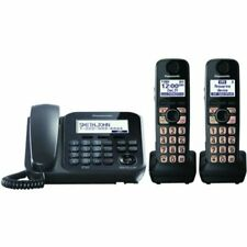 Panasonic KX-TG242SK DECT 6.0 Plus 1 Corded and 2 Cordless Phone (Refurbished)
