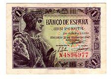 1943 España, 1 peseta  Fernando el Católico, EBC++, Serie N