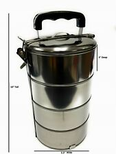 4 Layers Stainless Steel Hot Food Container Lunch Box Carrier