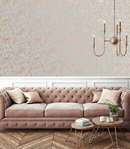 Superfresco Rose Gold Milan Illusion Plain Wallpaper