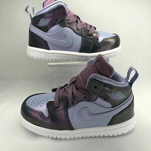 Nike Jordan 1 Mid SE SZ 7C Monsoon Blue/Purple Rise TD [AV5172 400]