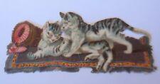 Oblaten, Katzen,   10 cm x 4 cm,  1900  ♥ (66450)
