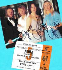 ABBA-Top-ak imagen aprox. 21x15 (2) Print copie + ticket copie + 3 ak 's firmado