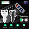 Multi 4 Port USB Car Charger Adapter Socket Quick Charge QC 3.0 5V 9V 12V Fast