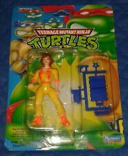 1990 *** APRIL O'NEIL 1993 ISSUE BLUE MOC *** TEENAGE MUTANT NINJA TURTLES TMNT