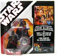 Star Wars 30th Anniversary COIN FOLDER WITH Darth Vader Figure