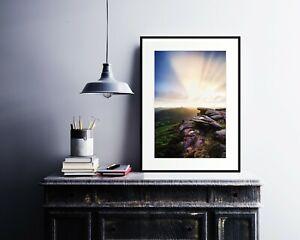 Fanlight - Peak District Sunset Print Bamford Edge Landscape Photography Artwork