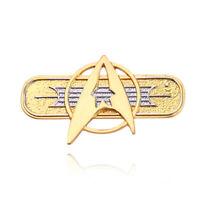 Star Trek Golden Metal Brooch TOS Khan Starfleet Badge Lapel Pin Cosplay Props