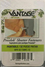 Vantage 3-inch Presslok Shutter Fasteners - Paintable - Package of 12, 02358