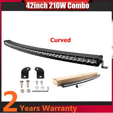 "Curved 42""inch 210W Single Row CREE LED Slim Light Bar 3D Lens 4WD SUV JEEP /240"