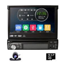 New listing Hd Flip Out Single 1 Din Car Head Unit Stereo Radio Dvd Player Gps Navigation~
