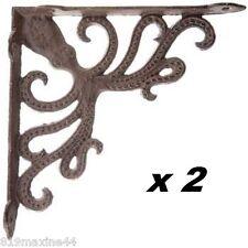 Octopus Cast Iron Bracket,X2 Shelving Decor, Nautical, Free Shipping!