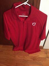 XL Red Polyester Extra Large Golf Polo Shirt Coachesaid.com Oklahoma High School
