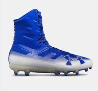 Under Armour Men Sz 14 UA Highlight MC Football Cleats Blue/White 3000177-401