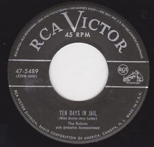 "THE ROBINS - ""TEN DAYS IN JAIL"" b/w ""EMPTY BOTTLES"" on RCA VICTOR (VG++)"