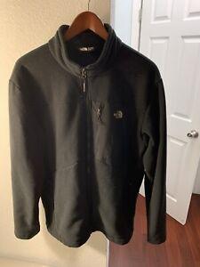 $169 Authentic THE NORTH FACE Mens Black Athletic Jacket W/3 Zipper Pocket Sz.XL