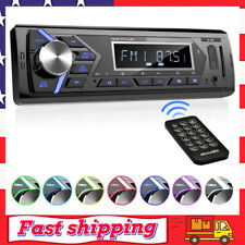 Bluetooth Car Stereo Radio Receiver Single Din Mechless Digital Media Receiver