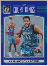 2016-17 DONRUSS OPTIC COURT KINGS BLUE #15: KARL-ANTHONY TOWNS #1/49 WOLVES 1/1