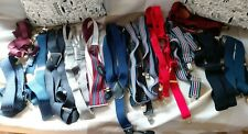 Job lot 14 PAIRS of men's trouser BRACES different colours and fittings