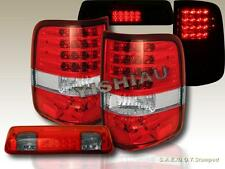 04-08 FORD F-150 RED CLEAR TAIL LIGHTS W/ LED + RED SMOKE 3RD BRAKE LIGHT W/ LED