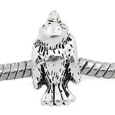"""""""Bird KaKapo"""" Antique Silver Charm Bead Spacer for Snake Chain Charm Bracelets"""