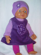 Für my first Baby Annabell Puppen 36 cm Kleidung Puppenkleidung Kleid 4-tlg NEU