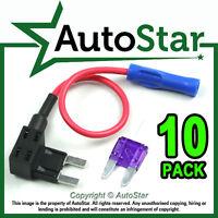 10 -Add A Circuit Fuse Splice Piggy Back MINI Blade Tap / Holder ATM APM 12v 24v