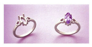 (6x3-10x5) Marquise Heart Design Sterling Silver Pre-Notched RIng Setting Size 7