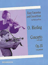 Oskar Rieding: Concerto in B Minor Op.35 (violin/piano) by Oskar Rieding (Paper…