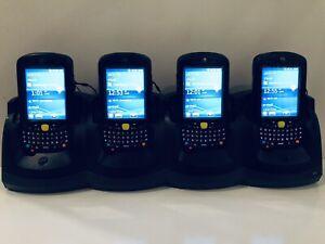 4 x Motorola Symbol Zebra MC55A0 Barcode 2D Scanner Mobile PDA MC55A + Cradle