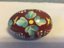 Vintage Hand painted wooden Polish/European pysanky egg