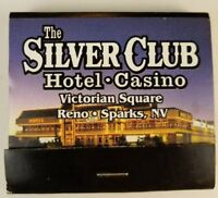Vintage matchbook the silver Club Hotel Casino Reno Nevada  c9