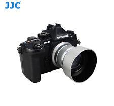 JJC Pro Silver Camera Lens Hood for Olympus M.ZUIKO DIGITAL 45mm f/1.8 as LH-40B
