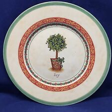 "Villeroy & Boch 1748 IVY Festive Memories Topiary Salad Plate Germany 8 1/2"" Dia"