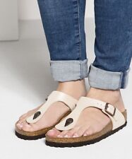 BIRKENSTOCK 'Gizeh' Antique Lace Leather Birko-Flor Slide Sandals 36 L5