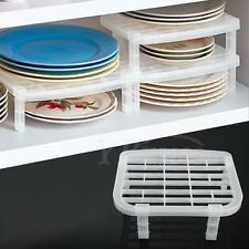 New Sturdy Plastic Dinnerware Plate Dish Rack Organizer Holder Kitchen Organizer
