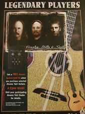Crosby, Stills and Nash, Alvarez Yairi Guitars,  Full Page Promotional Ad